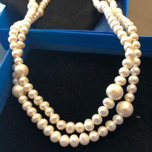 BRAND NEW JoshBazar White Cultured Pearls Necklace